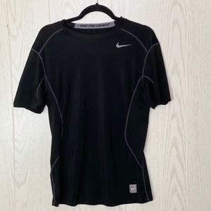 Nike Pro Combat Fitted Black Dri Fit Size M Men's